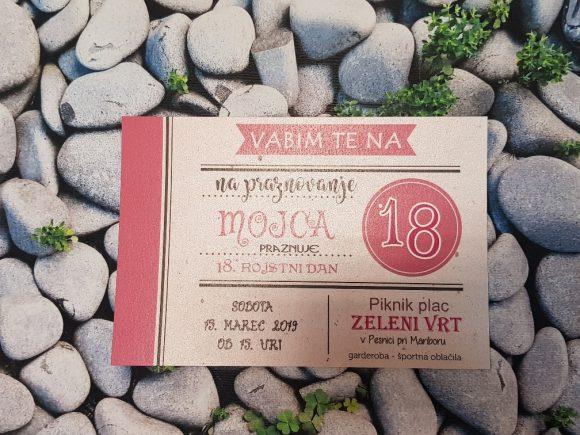 Vabilo za 18. rojstni dan - Poročni bazar INKI