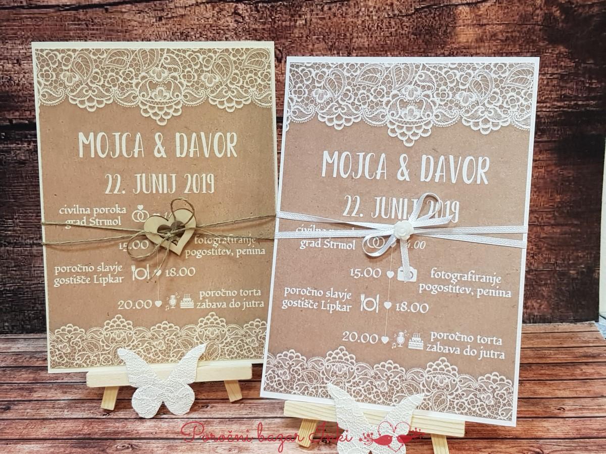 Poročna vabila - Poročni bazar INKI