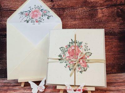 Poročna vabila cvet - Poročni bazar INKI