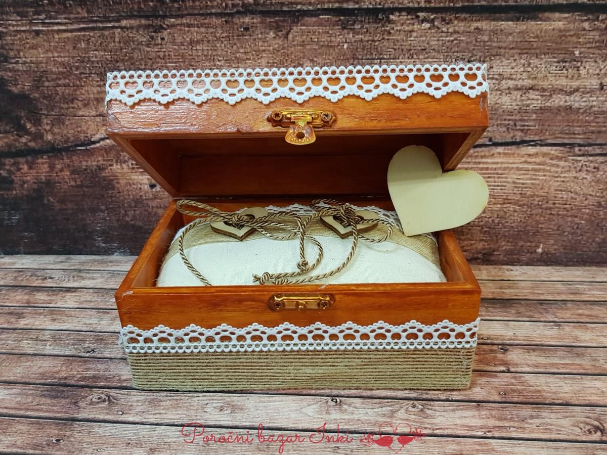 Lesene skrinjice za prstane - Poročni bazar INKI